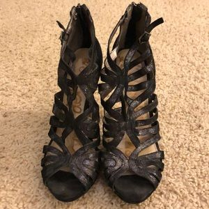 Sam Edelman size 8 evening party shoes shimmery
